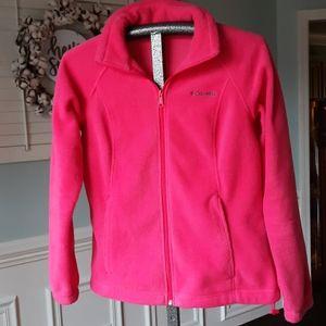 Pink Columbia Fleece Jacket, MEDIUM